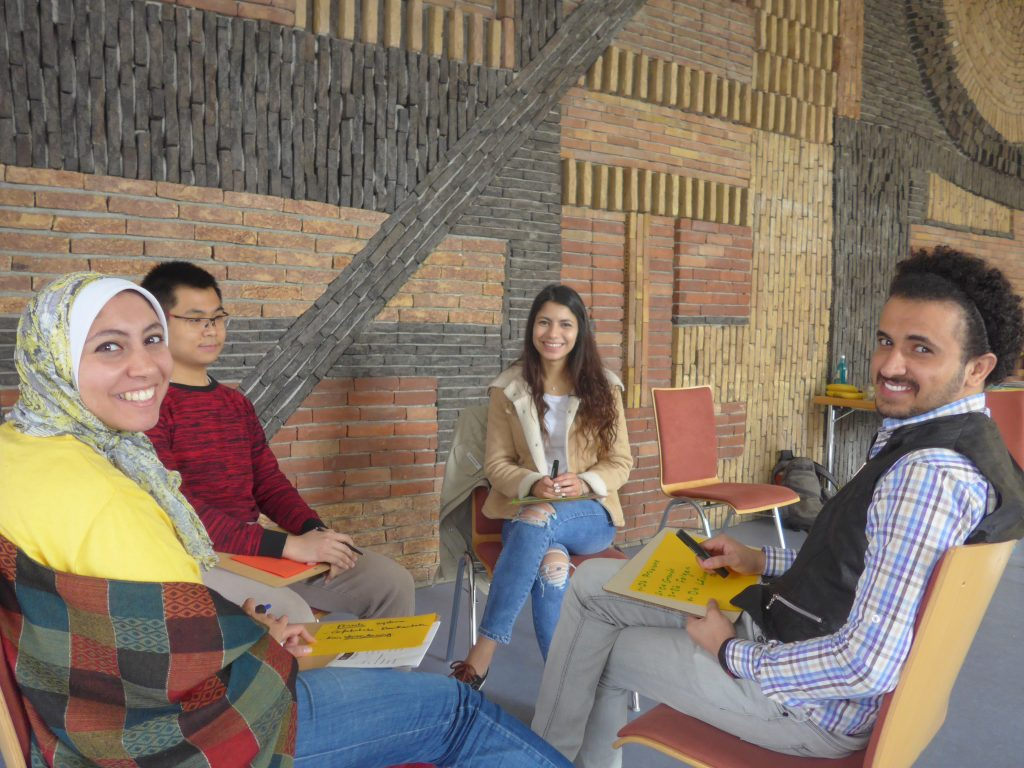 STUBE students in workshop