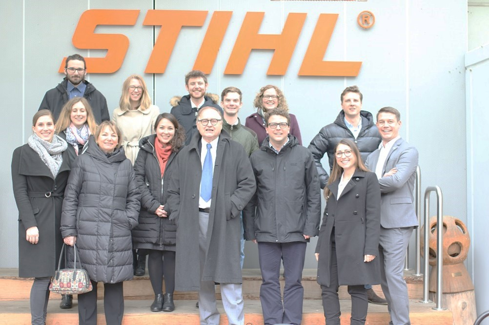 CHIKOH participants and Professors STIHL's headquarter in Waiblingen