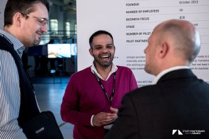 Mr Halil, founder of smoope, at the ExpoDay 3 of the Startup Autobahn, February 2018