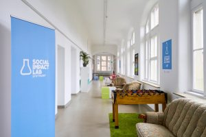 Interior design of The Social Impact Labs in Stuttgart